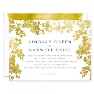 Gilded Vines Invitation