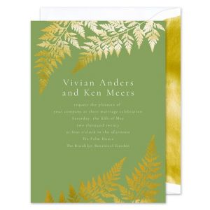 Golden Fern Invitation