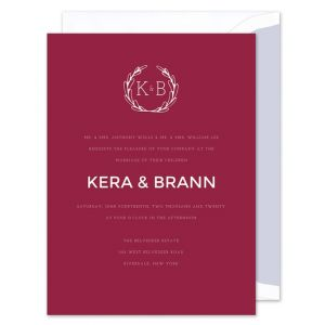Modern Maroon Invitation