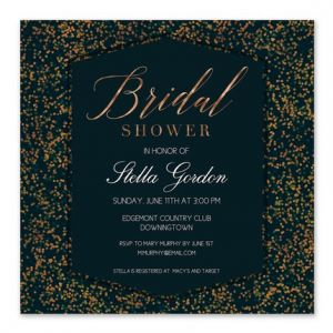 Copper Confetti Invitation