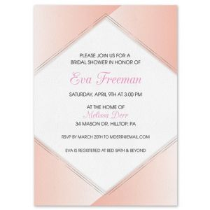 Pink Geometric Invitation