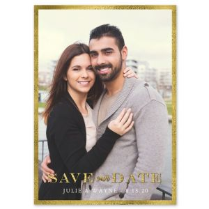 Golden Border Save the Date