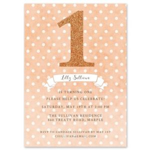 Peach Dots Invitation