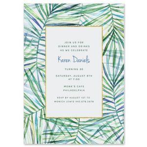 Tropical Palms Invitation