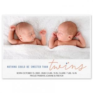 Sweet Twins Announcement