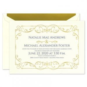 Swirl of Gold Invitation