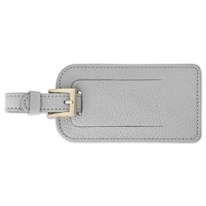 Gray Luggage Tag