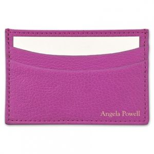 Orchid Business Card Holder