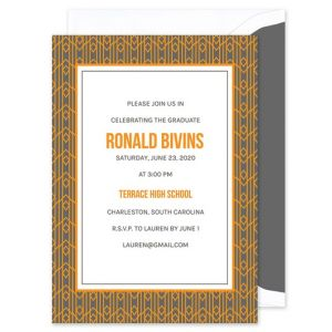 Orange Deco Invitation