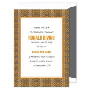 Orange Deco Invitation
