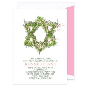 Wreath Mitzvah Invitation