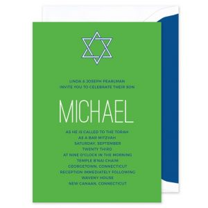 Green Mitzvah Invitation