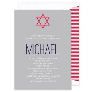 Gray Mitzvah Invitation