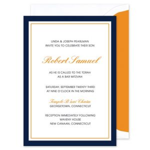 Blue & Orange Invitation