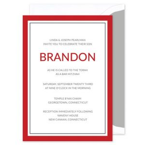 Red & Navy Invitation