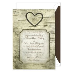 Woodsy Monogram Invitation