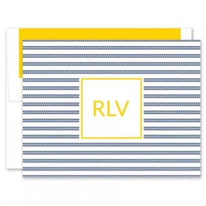 Rope Stripe Note Card