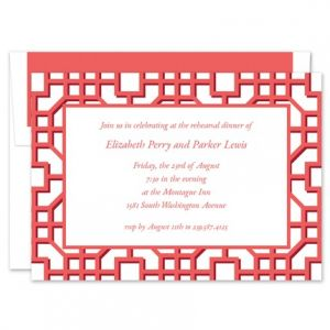 Fret Coral Invitation