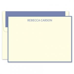 Periwinkle Ivory Flat Card