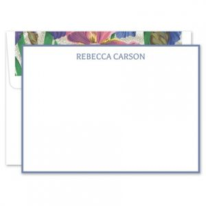 Periwinkle White Flat Card