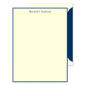 Navy Ivory Lettersheet