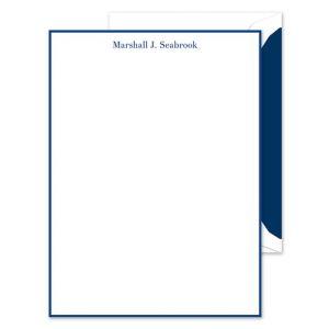 Navy White Lettersheet