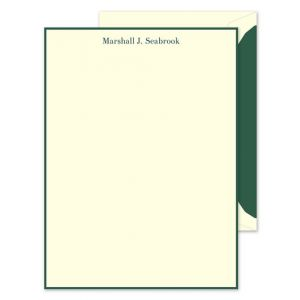 Green Ivory Lettersheet
