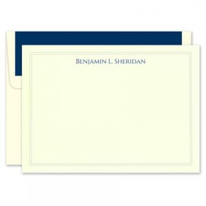 Elegant Ivory Flat Card