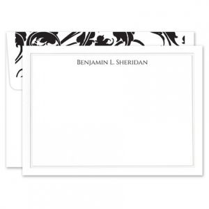 Elegant White Flat Card