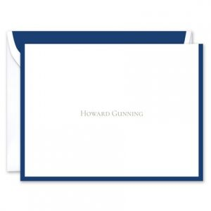 Regal Navy Note Card