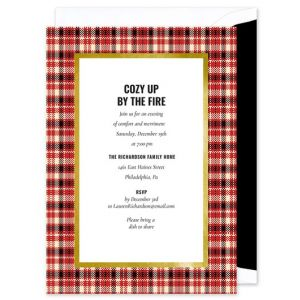 Red Tartan Invitation