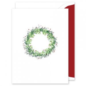 Personalized new years greeting cards fine stationery winter wreath greeting card m4hsunfo
