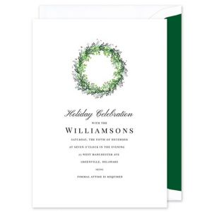 Winter Wreath Invitation