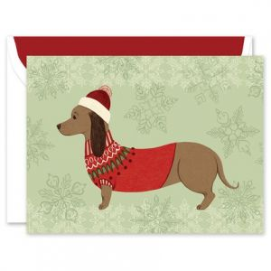 Festive Pup Greeting Card