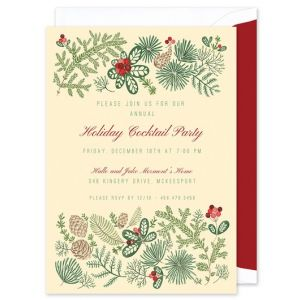 Holiday Foliage Invitation