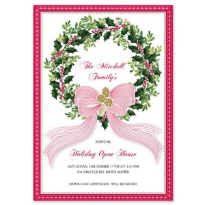 Holly Wreath Invitation