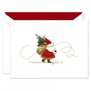 Skiing Santa Greeting Card