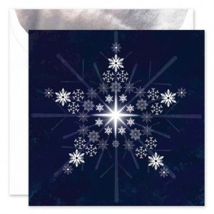 Snowflake Star Greeting Card