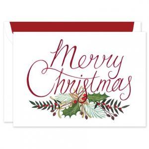 Merry Greenery Greeting Card