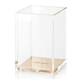 Gold Acrylic Pencil Cup Holder