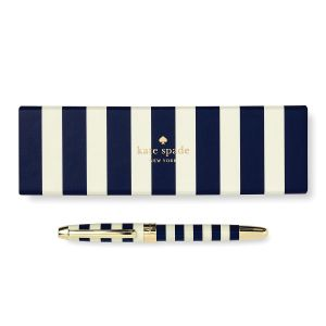 Navy Stripe Ballpoint Pen