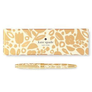 Golden Floral Ballpoint Pen