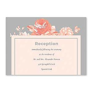 14 and Orange Wedding 128896 128873 Reception Card