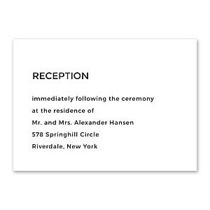 14 and Orange Wedding 128914 128879 Reception Card