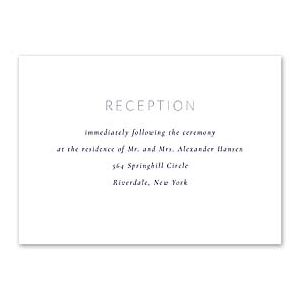 14 and Orange Wedding 128917 128880 Reception Card