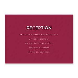 14 and Orange Wedding 128923 128882 Reception Card