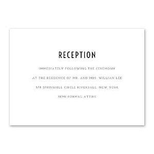 14 and Orange Wedding 128926 128883 Reception Card