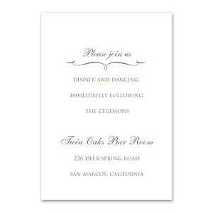 Truly by William Arthur Truly Weddings 123216 123176 Reception Card