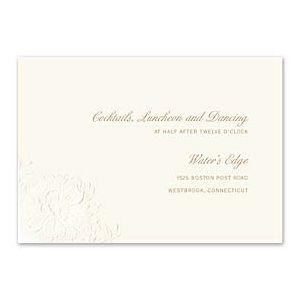 Truly by William Arthur Truly Weddings 123239 123186 Reception Card