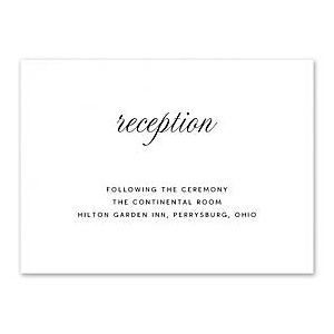 Truly by William Arthur Wedding 2018 129694 129671 Reception Card